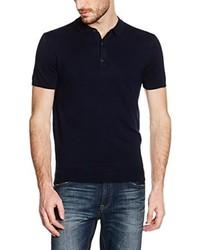 Camisa polo azul marino de Burton Menswear London