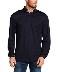 Camisa polo azul marino de Casamoda
