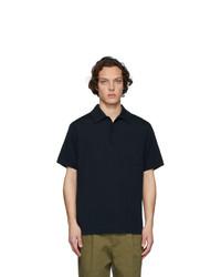 Camisa polo azul marino de Dries Van Noten