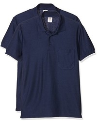 Camisa polo azul marino de Fruit of the Loom