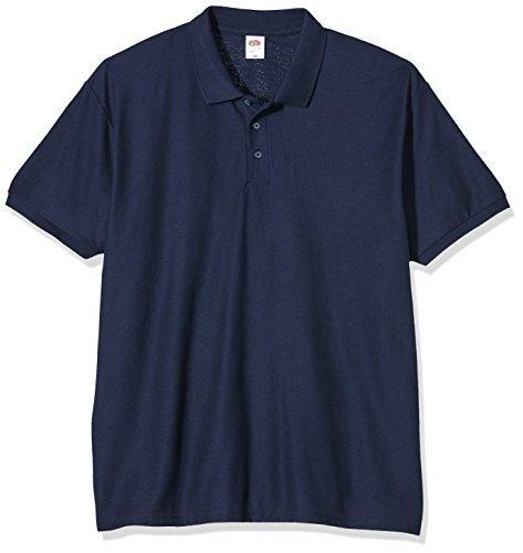 Camisa Polo Azul Marino de Fruit of the Loom  dónde comprar y cómo ... 317194d784054