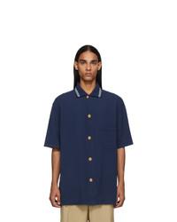 Camisa polo azul marino de Gucci