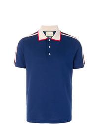 Camisa polo azul marino de Gucci e34db0e74b1