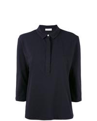 Camisa polo azul marino de Le Tricot Perugia