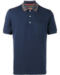Camisa polo azul marino de Missoni