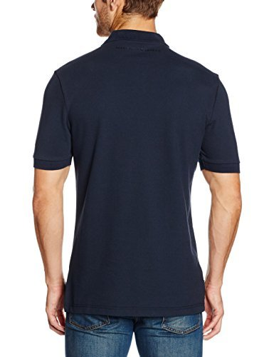 0e7b30eaaa78b Camisa polo azul marino de Perry Ellis