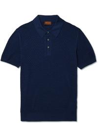 Camisa polo azul marino de Tod's