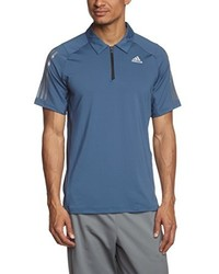 Camisa polo azul de adidas