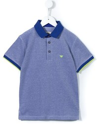 Camisa polo azul de Armani Junior