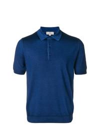 Camisa polo azul de Canali