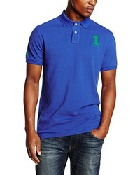 Camisa polo azul de Hackett London