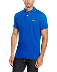 Camisa Polo Azul de Superdry