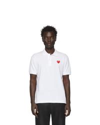 Camisa polo blanca de Comme Des Garcons Play