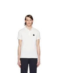 Camisa polo blanca de Moncler