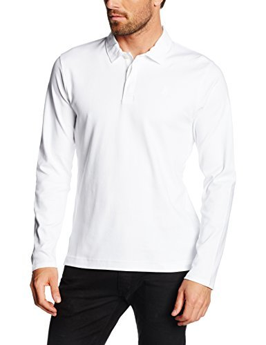 6004711126e9d ... Camisa polo blanca de Perry Ellis ...