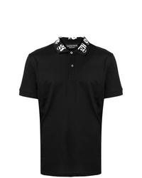 Camisa polo bordada negra de Alexander McQueen