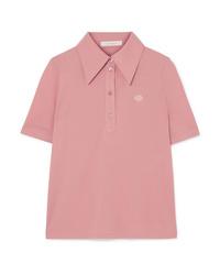 Camisa polo bordada rosada de See by Chloe