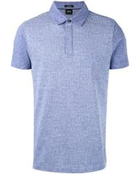 Camisa polo celeste de Hugo Boss