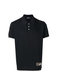 Camisa polo con adornos negra de DSQUARED2