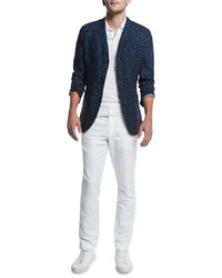 Camisa polo de lino blanca