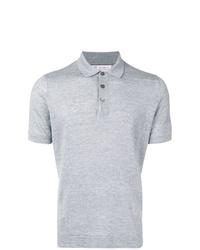 Camisa polo de lino gris de Brunello Cucinelli
