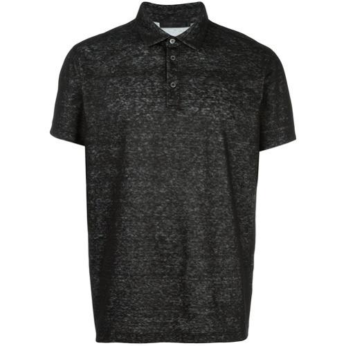 dbd249e20de ... Camisa polo de lino negra de Calvin Klein ...