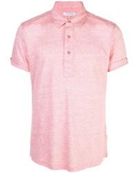 Camisa polo de lino rosada de Orlebar Brown
