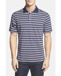 Camisa polo de rayas horizontales azul marino
