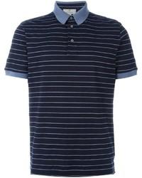 Camisa polo de rayas horizontales azul marino de Canali