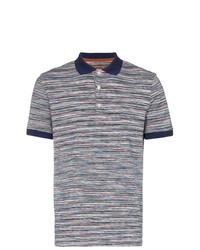 Camisa polo de rayas horizontales azul marino de Missoni