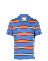 Camisa polo de rayas horizontales azul de AMI Alexandre Mattiussi