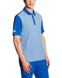 Camisa polo de rayas horizontales celeste de adidas