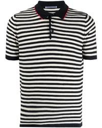 Camisa polo de rayas horizontales en azul marino y blanco de Daniele Alessandrini