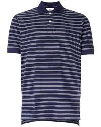 Camisa polo de rayas horizontales en azul marino y blanco de Kent & Curwen