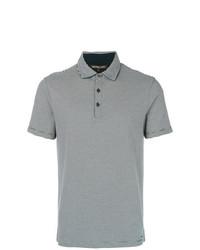 Camisa polo de rayas horizontales en azul marino y blanco de Michael Kors Collection