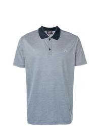 Camisa polo de rayas horizontales en azul marino y blanco de Paul & Shark