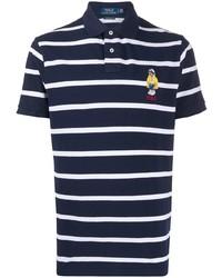 Camisa polo de rayas horizontales en azul marino y blanco de Polo Ralph Lauren