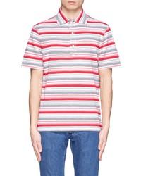 Camisa polo de rayas horizontales en multicolor