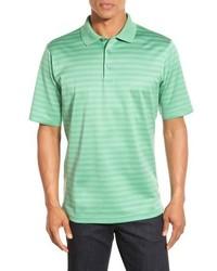 Camisa polo de rayas horizontales en verde menta