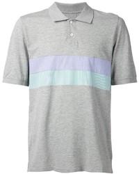Camisa polo de rayas horizontales gris de Band Of Outsiders