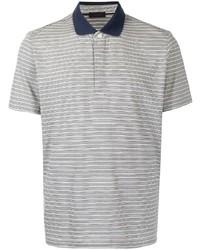 Camisa polo de rayas horizontales gris de D'urban