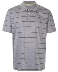 Camisa polo de rayas horizontales gris de Gieves & Hawkes