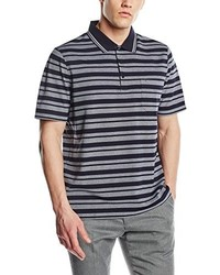 Camisa polo de rayas horizontales gris de Maerz