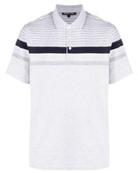 Camisa polo de rayas horizontales gris de Michael Kors