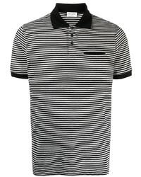 Camisa polo de rayas horizontales gris de Saint Laurent