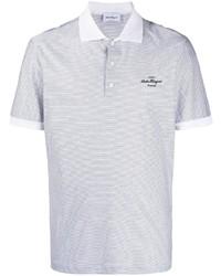 Camisa polo de rayas horizontales gris de Salvatore Ferragamo