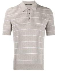 Camisa polo de rayas horizontales gris de Tagliatore