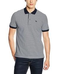 Camisa polo de rayas horizontales gris de TORO