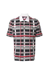 Camisa polo de tartán en multicolor de Moncler
