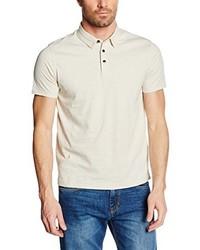 Camisa polo en beige de Cortefiel